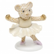 Herend Ballerina Bear Butterscotch