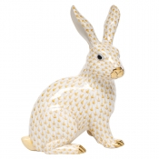 Herend Large Sitting Bunny - Butterscotch