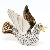 Herend Peace Dove with Branch - Black