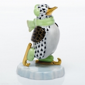 Herend Ice Skating Penguin Ice Skating Penguin - Black