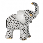 Herend Young Elephant Young Elephant - Black