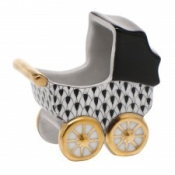 Herend Baby Carriage Black