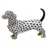 Herend Dachshund - Black