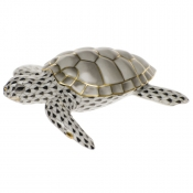 Herend Loggerhead Turtle Black