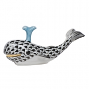 Herend Baby Whale w/ Spout - Black