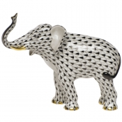 Herend Elephant Luck - Black