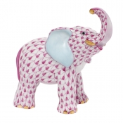 Herend Young Elephant Young Elephant - Raspberry