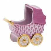 Herend Baby Carriage Raspberry
