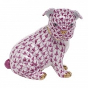 Herend Bulldog Puppy - Raspberry