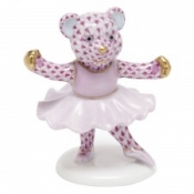 Herend Ballerina Bear Raspberry