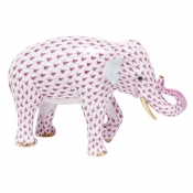 Herend Asian Elephant Raspberry
