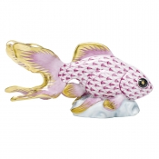 Herend Fantail Goldfish - Raspberry