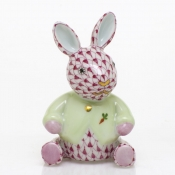 Herend Sweater Bunny - Raspberry