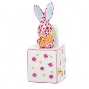 Herend Jack In The Box Bunny - Raspberry