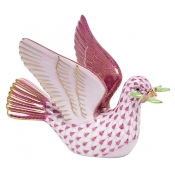 Herend Peace Dove with Branch - Raspberry
