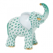 Herend Young Elephant Young Elephant - Green