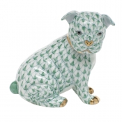 Herend Bulldog Puppy - Green