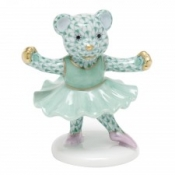 Herend Ballerina Bear Green