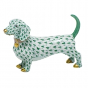 Herend Dachshund - Green