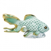 Herend Fantail Goldfish - Green