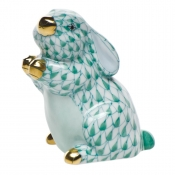 Herend Pudgy Bunny Green