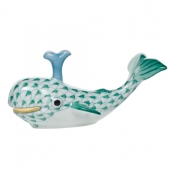 Herend Baby Whale w/ Spout - Green