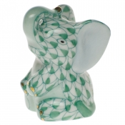 Herend Miniature Baby Elephant - Green