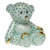Herend Small Teddy Bear Green