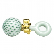 Herend Baby Rattle Green