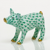 Herend Smiling Pig - Green