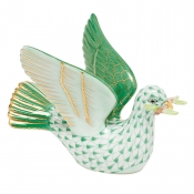 Herend Peace Dove with Branch - Green