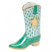 Herend Cowboy Boot - Green