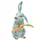 Large Bunny with Carrot Green