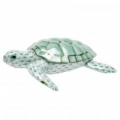 Herend Loggerhead Turtle Green