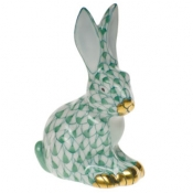 Miniature Sitting Rabbit Green