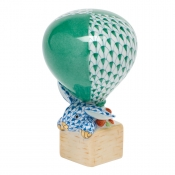 Hot Air Bunny Hot Air Balloon Bunny - Green / Blue