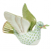 Herend Peace Dove with Branch - Key Lime