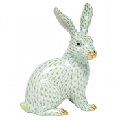 Herend Large Sitting Bunny - Key Lime