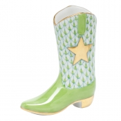 Herend Cowboy Boot - Key Lime
