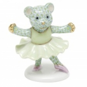 Herend Ballerina Bear Key Lime