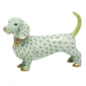 Herend Dachshund - Key Lime