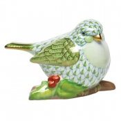 Herend Little Bird on Holly - Key Lime