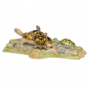 Herend Turtle Trio Yellow + Brown + Lime