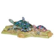 Herend Turtle Trio Green + Blue + Pink