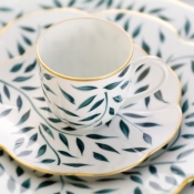 Olivier Green Coffee Saucer