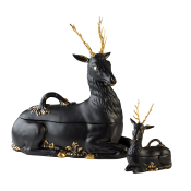 Mottahedeh Stag Server Black Matt - Small