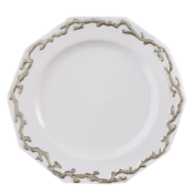 Mottahedeh Carallina Platinum Dinner Plate*