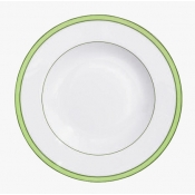 Tropic Green French Rim Soup Plate