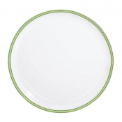 Tropic Green Round Flat Cake Plate