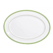 Tropic Green Oval Platter